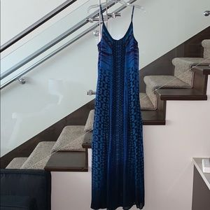 In excellent condition express blue maxi dress